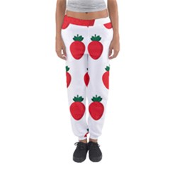 Fruit Strawberries Red Green Women s Jogger Sweatpants by Mariart