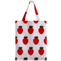 Fruit Strawberries Red Green Zipper Classic Tote Bag by Mariart