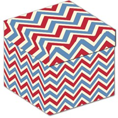 Zig Zags Pattern Storage Stool 12   by Valentinaart