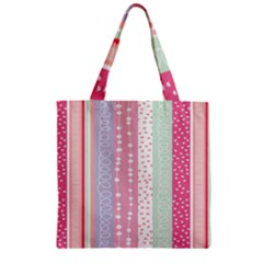 Heart Love Valentine Polka Dot Pink Blue Grey Purple Red Zipper Grocery Tote Bag by Mariart