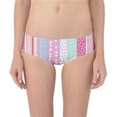 Heart Love Valentine Polka Dot Pink Blue Grey Purple Red Classic Bikini Bottoms by Mariart