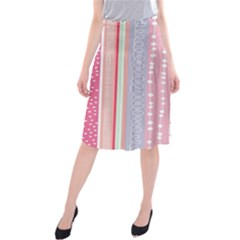 Heart Love Valentine Polka Dot Pink Blue Grey Purple Red Midi Beach Skirt by Mariart