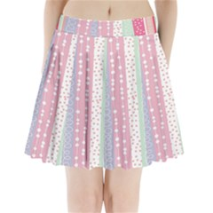 Heart Love Valentine Polka Dot Pink Blue Grey Purple Red Pleated Mini Skirt by Mariart