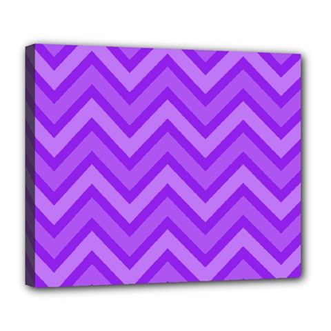 Zig Zags Pattern Deluxe Canvas 24  X 20