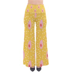 Flower Floral Tulip Leaf Pink Yellow Polka Sot Spot Pants by Mariart