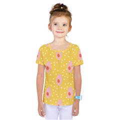 Flower Floral Tulip Leaf Pink Yellow Polka Sot Spot Kids  One Piece Tee
