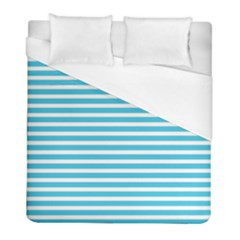 Horizontal Stripes Blue Duvet Cover (full/ Double Size) by Mariart