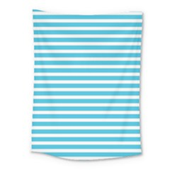 Horizontal Stripes Blue Medium Tapestry by Mariart