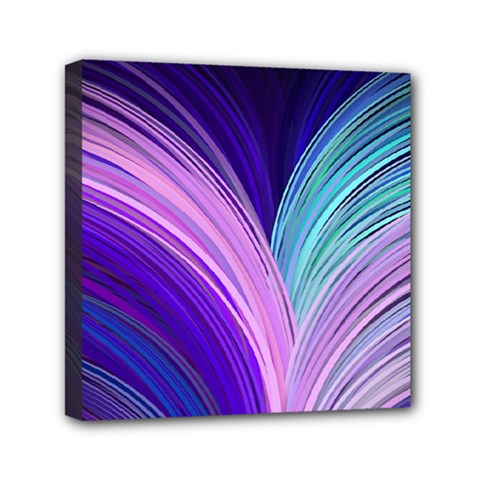 Color Purple Blue Pink Mini Canvas 6  X 6  by Mariart