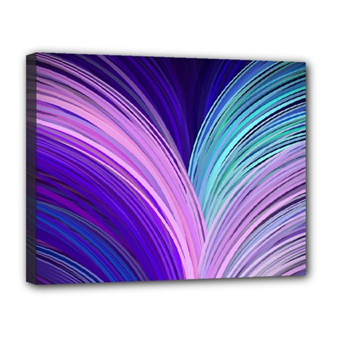 Color Purple Blue Pink Canvas 14  X 11  by Mariart