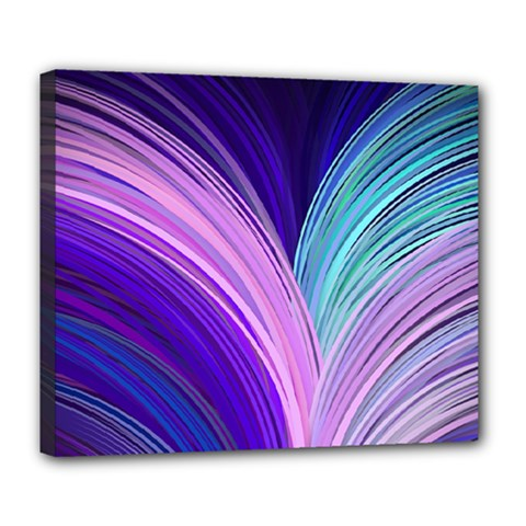 Color Purple Blue Pink Deluxe Canvas 24  X 20   by Mariart