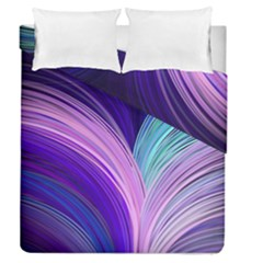 Color Purple Blue Pink Duvet Cover Double Side (queen Size) by Mariart