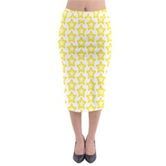 Yellow Orange Star Space Light Midi Pencil Skirt by Mariart