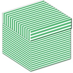 Horizontal Stripes Green Storage Stool 12   by Mariart
