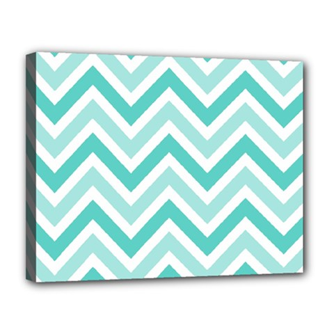 Zig Zags Pattern Canvas 14  X 11