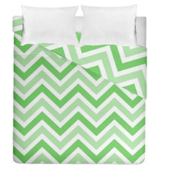 Zig Zags Pattern Duvet Cover Double Side (queen Size)
