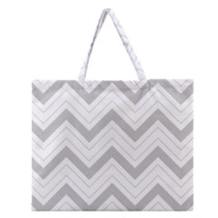 Zig Zags Pattern Zipper Large Tote Bag by Valentinaart