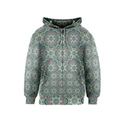 Decorative Ornamental Geometric Pattern Kids  Zipper Hoodie by TastefulDesigns