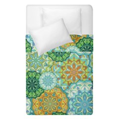 Forest Spirits  Green Mandalas  Duvet Cover Double Side (single Size)