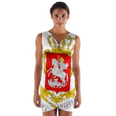 Greater Coat Of Arms Of Georgia Wrap Front Bodycon Dress