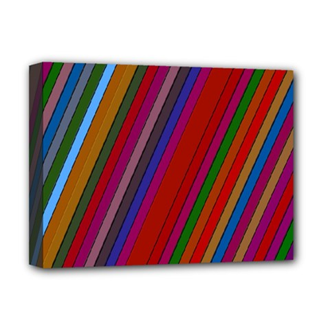 Color Stripes Pattern Deluxe Canvas 16  X 12   by Simbadda