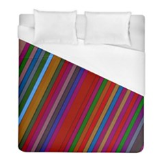 Color Stripes Pattern Duvet Cover (full/ Double Size) by Simbadda