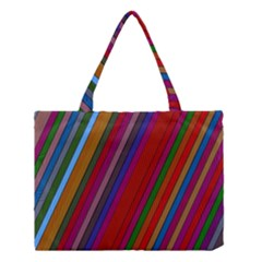 Color Stripes Pattern Medium Tote Bag by Simbadda