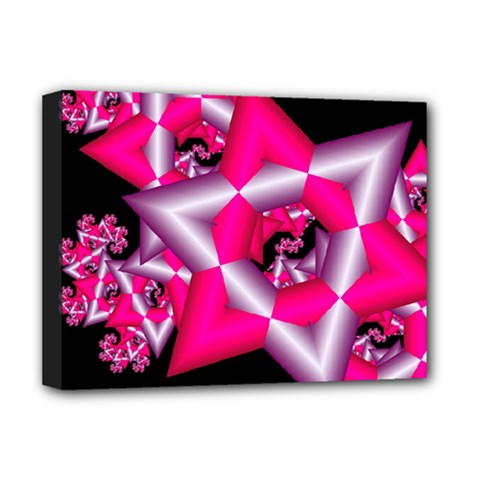 Star Of David On Black Deluxe Canvas 16  X 12   by Simbadda