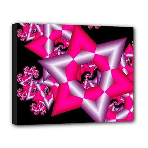 Star Of David On Black Deluxe Canvas 20  X 16   by Simbadda