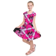 Star Of David On Black Kids  Short Sleeve Dress by Simbadda