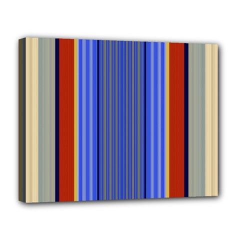 Colorful Stripes Background Canvas 14  X 11  by Simbadda
