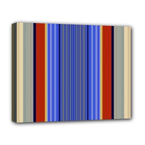 Colorful Stripes Background Deluxe Canvas 20  X 16   by Simbadda