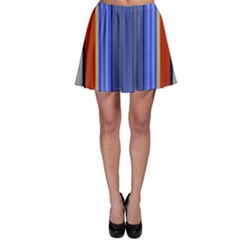 Colorful Stripes Background Skater Skirt by Simbadda