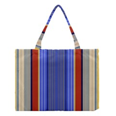 Colorful Stripes Background Medium Tote Bag