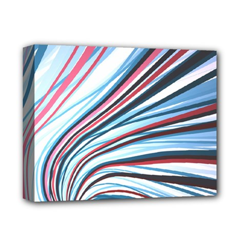 Wavy Stripes Background Deluxe Canvas 14  X 11  by Simbadda