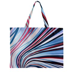 Wavy Stripes Background Zipper Mini Tote Bag by Simbadda