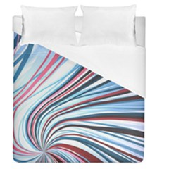Wavy Stripes Background Duvet Cover (queen Size) by Simbadda