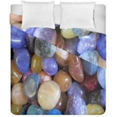 Rock Tumbler Used To Polish A Collection Of Small Colorful Pebbles Duvet Cover Double Side (california King Size)