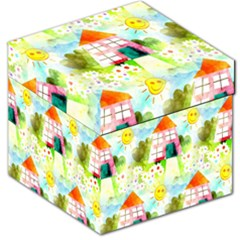 Summer House And Garden A Completely Seamless Tile Able Background Storage Stool 12   by Simbadda