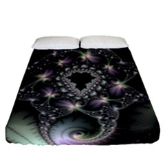 Magic Swirl Fitted Sheet (queen Size) by Simbadda