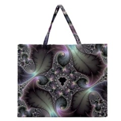 Precious Spiral Wallpaper Zipper Large Tote Bag by Simbadda