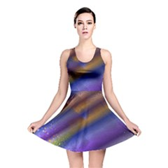 Fractal Color Stripes Reversible Skater Dress