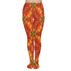 Background Flower Fractal Women s Tights by Simbadda
