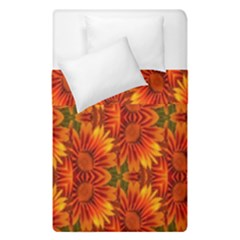 Background Flower Fractal Duvet Cover Double Side (single Size)