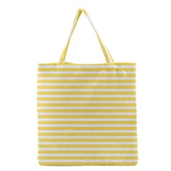 Horizontal Stripes Yellow Grocery Tote Bag by Mariart