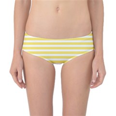 Horizontal Stripes Yellow Classic Bikini Bottoms by Mariart