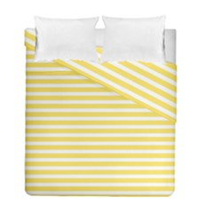 Horizontal Stripes Yellow Duvet Cover Double Side (full/ Double Size) by Mariart