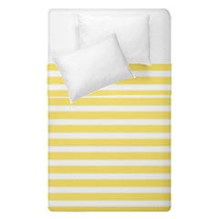 Horizontal Stripes Yellow Duvet Cover Double Side (single Size) by Mariart