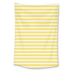 Horizontal Stripes Yellow Large Tapestry by Mariart