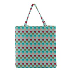 Large Colored Polka Dots Line Circle Grocery Tote Bag by Mariart
